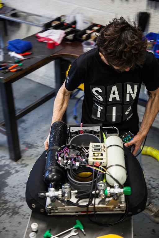 Thibault Rauby technicien rEvo rebreathers